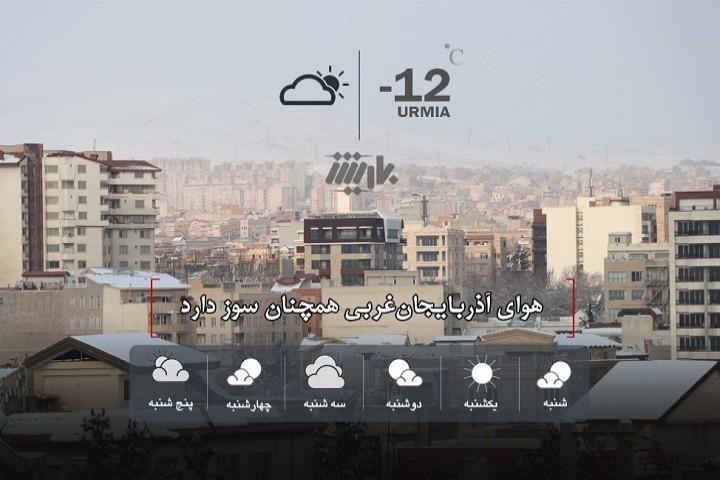 هوای آذربایجانغربی همچنان سوز دارد