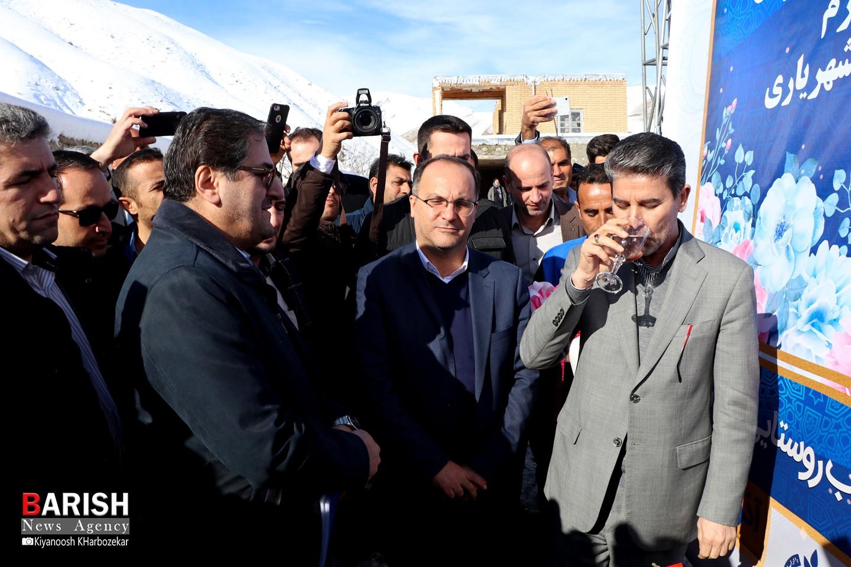 آیین افتتاح آبرسانی به 41 روستای آذربایجان غربی