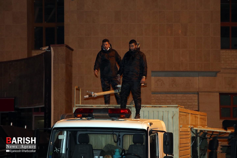ضدعفونی معابر پرتردد شهر ارومیه