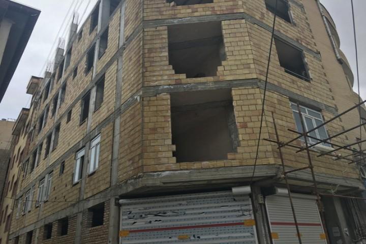 پایان نافرجام سازه های ساختمانی در ارومیه