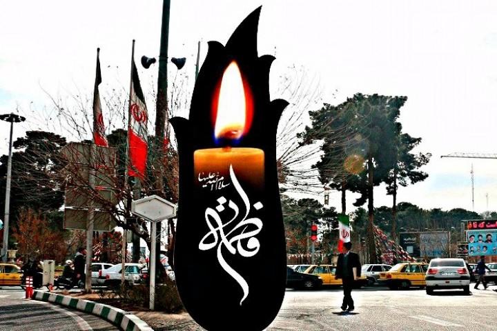 نصب بیش از 22 المان ویژه ایام فاطمیه در ارومیه