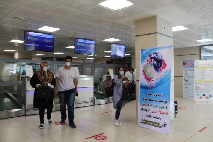 جلوگیری از سفر هوایی مبتلایان به کووید ۱۹ در فرودگاه بین المللی شهید باکری ارومیه