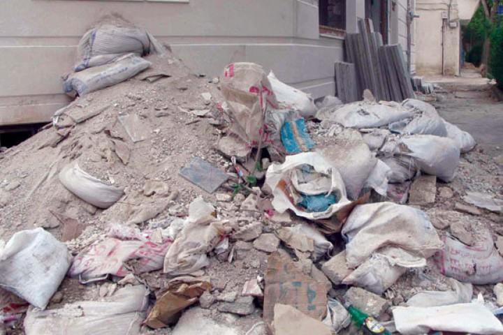 نخالههای ساختمانی سیمای شهر ارومیه را مخدوش میکند