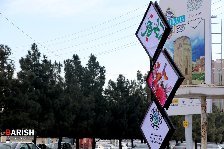 نصب المان های دهه فجر در سطح شهر ارومیه