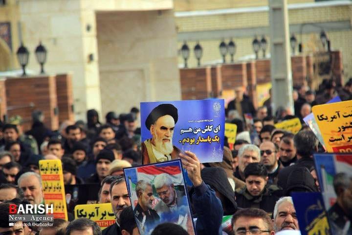 راهپیمایی مردم ارومیه در حمایت از اقتدار نظام جمهوری اسلامی