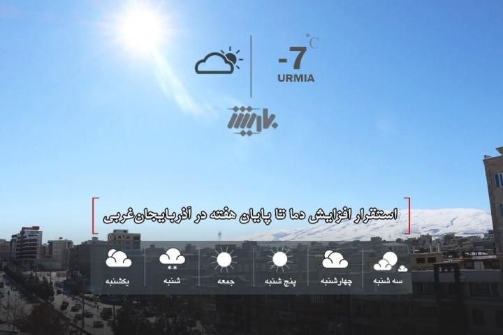 استقرار افزایش دما تا پایان هفته در آذربایجانغربی