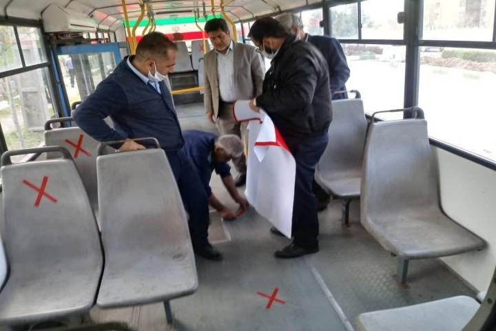 اجرای طرح فاصلهگذاری اجتماعی در ناوگان اتوبوس شهری ارومیه