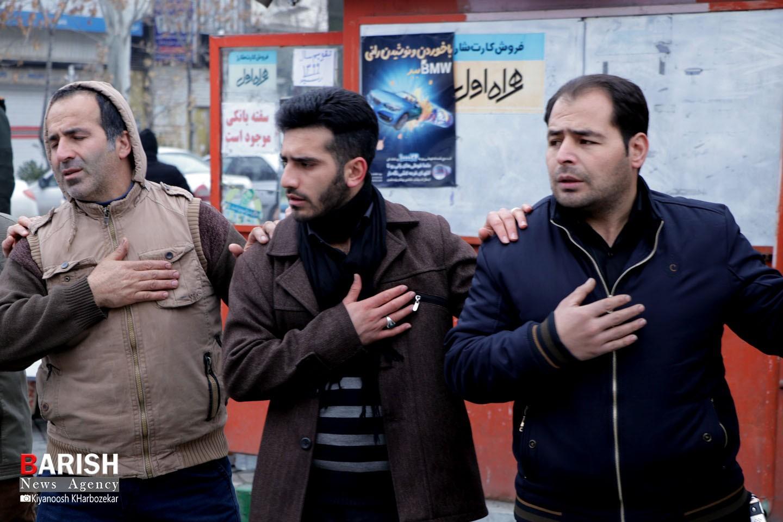 عزاداری خیابانی مردم ارومیه در سوگ یاس نبی(ص)