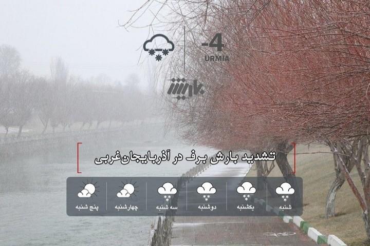 تشدید بارش برف در آذربایجانغربی