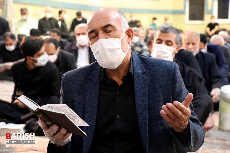 مراسم دومین شب قدر در ارومیه با رعایت پروتکل های بهداشتی