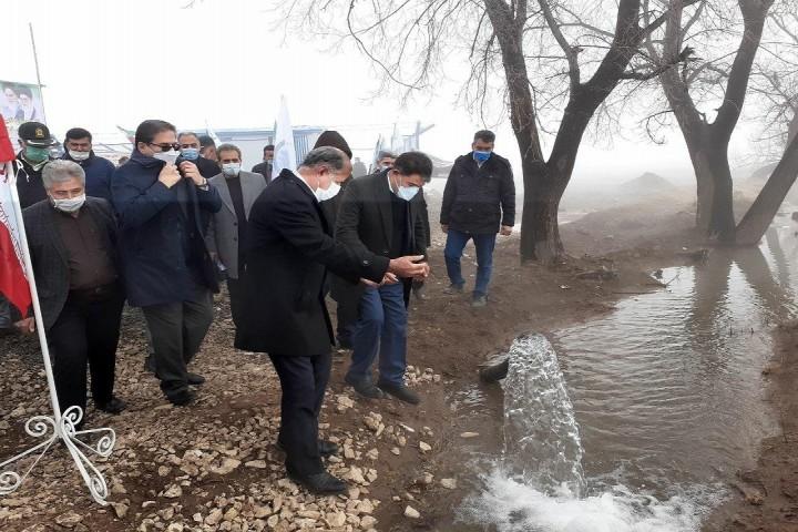 افتتاح مجتمع آبرسانی روستاهای قیز قلعه و یاریم قیه خوی