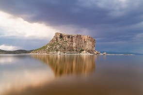 دریاچه ارومیه محلی برای ثبت عکس یادگاری مسئولان!